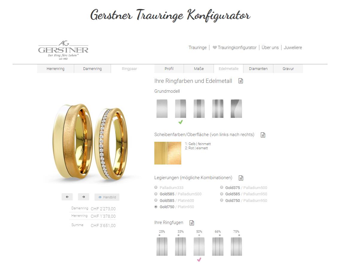 Gerstner Trauringe Konfigurator